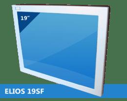 ELIOS 4:3 Metal-cased industrial fanless monitor, IPO Technologie solutions ELIOS-19SF