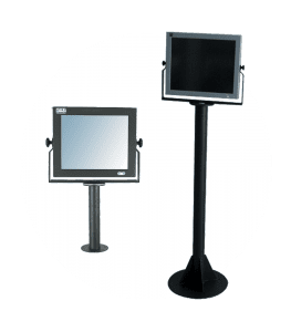 Support and mounting solution for VITUS/ELIOS, Option & Accessories for IPO Technologie range,IPO Technologie solutions Pied Tube – Fixation au sol pour série VITUS/ELIOS