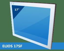 ELIOS 4:3 Metal-cased industrial fanless monitor, IPO Technologie solutions ELIOS-17SF
