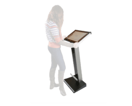 Options & Supports for All-in-one PC FUTURA, Option & Accessories for IPO Technologie range,IPO Technologie solutions Floor support/ Totem for FUTURA with tilt adjustment
