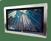 TITAN P Trueflat Panelmount PCAP Panel PC IP69&IK08, Stainless steel 316L panelmount front face,IPO Technologie solutions TITAN-P-15W CI